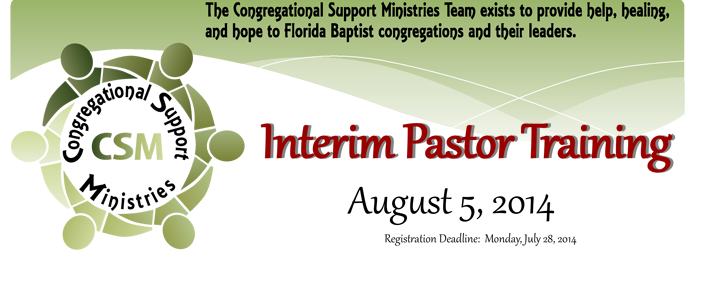 Interim Pastor Training